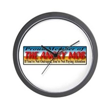 Proud Member of the Angry Mob Wall Clock