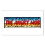 Proud Member of the Angry Mob Sticker (Rectangle)