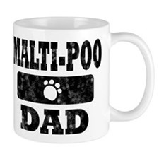 Vintage Malti-Poo Dad Small Mugs