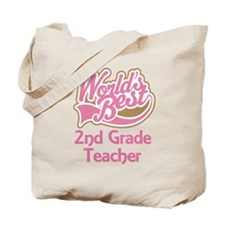 Worlds Best 2nd Grade Teacher Tote Bag