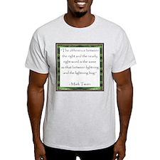 Twain Quote Ash Grey T-Shirt