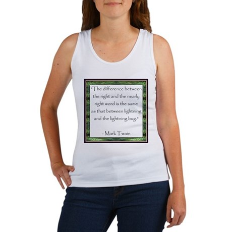 Twain Quote Women's Tank Top