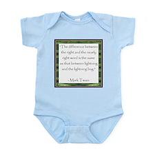 Twain Quote Infant Creeper