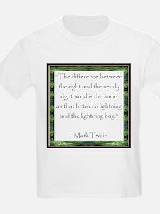 Twain Quote Kids T-Shirt