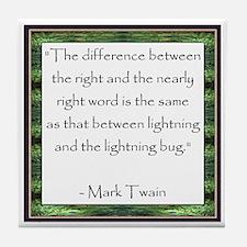 Twain Quote Tile Coaster