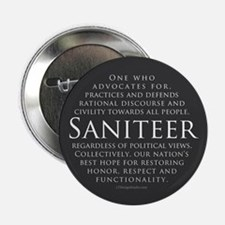 "Saniteer-gray 2.25"" Button"