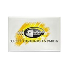 DJ Jeff Cavanaugh & Dmitry Rectangle Magnet