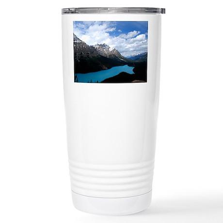Brilliant Blue Lake Stainless Steel Travel Mug
