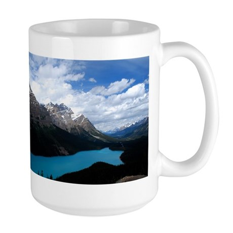 Brilliant Blue Lake Large Mug