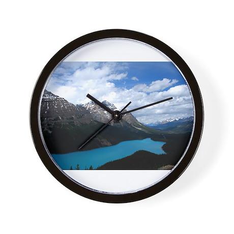 Brilliant Blue Lake Wall Clock
