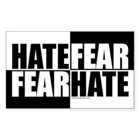 Hate Fear / Fear Hate Sticker (Rectangle)