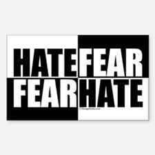 Hate Fear / Fear Hate Sticker (Rectangle)
