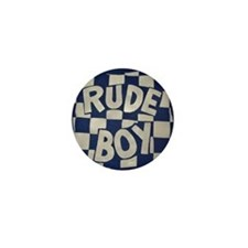 Rude Boy OiSKINLBU (Blue) Mini Badge/Button/Pin