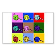 balls of colourful yarn Decal