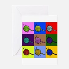 balls of colourful yarn Greeting Cards