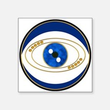 Blue evil eye with gold accents Sticker