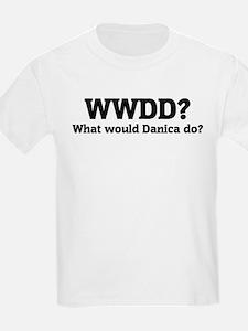 What would Danica do? Kids T-Shirt