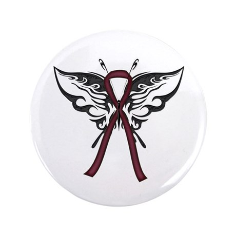 "Tribal Butterfly 3.5"" Button"