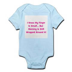 Mommy Wrapped Around Finger Infant Creeper