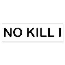 No Kill I Car Sticker