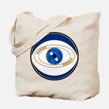 Blue evil eye with gold accents Tote Bag