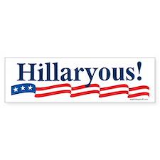 Hillaryous! Bumper Car Sticker