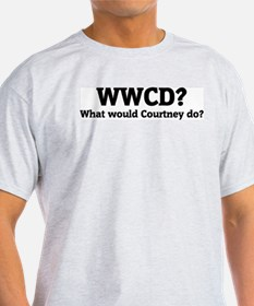 What would Courtney do? Ash Grey T-Shirt