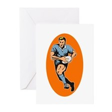 Rugby 2 Greeting Cards (Pk of 10)