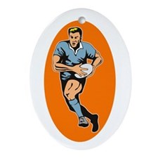 Rugby 2 Ornament (Oval)