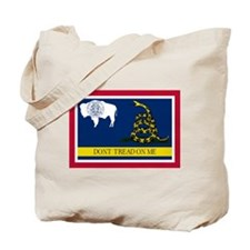 Dont Tread on Me Wyoming Flag Tote Bag