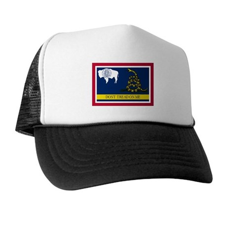 Dont Tread on Me Wyoming Flag Trucker Hat