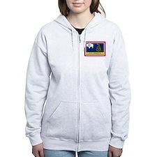 Dont Tread on Me Wyoming Flag Zip Hoodie