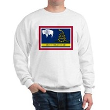 Dont Tread on Me Wyoming Flag Jumper