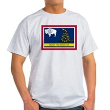 Dont Tread on Me Wyoming Flag T-Shirt