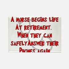 Retired Nurse Rectangle Magnet (100 pack)