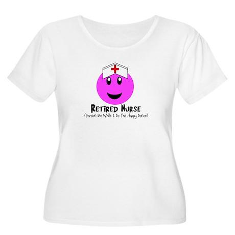 Retired Nurse Women's Plus Size Scoop Neck T-Shirt