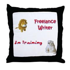 Freelance Writer in Training Throw Pillow
