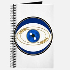 Blue evil eye with gold accents Journal