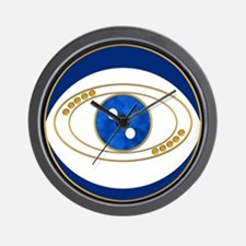 Blue evil eye with gold accents Wall Clock