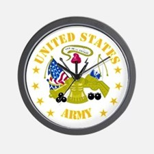 Embelm - US Army - Center Wall Clock