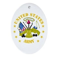 Embelm - US Army - Center Ornament (Oval)