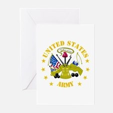 Embelm - US Army - Center Greeting Cards (Pk of 10