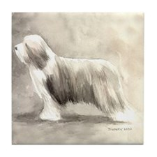 Unique Bearded collie Tile Coaster