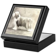 Unique Bearded collie Keepsake Box