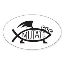 Mutate Fish Decal