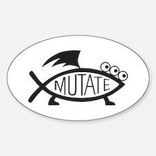Mutate Fish Sticker (Oval)