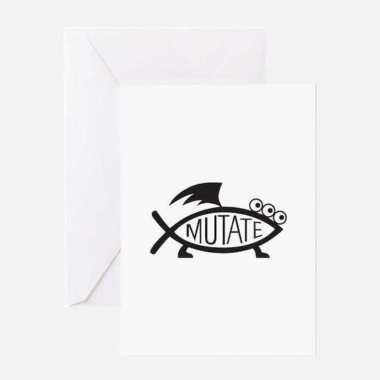 Mutate Fish Greeting Card
