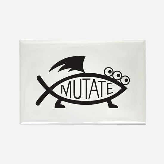 Mutate Fish Rectangle Magnet
