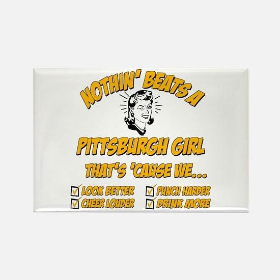 Pittsburgh Girl Rectangle Magnet