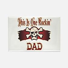 Rockin Dad Rectangle Magnet